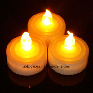 Base White Color Cr2032 LED Tealight Candle with Timer Function