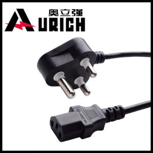 220V Non-Rewirable India Power Cables 3 Pin South Africa Plug Factory Promotion Price AC Power Cord with IEC Plug