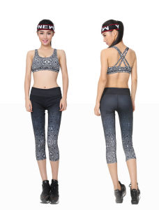 Yoga Compression Trousers Gym Leggings Sports Pants for Women (HFQ0150030) pictures & photos