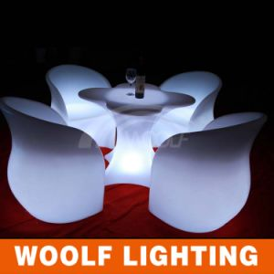 Modern Illuminated LED Plastic Garden Chairs pictures & photos