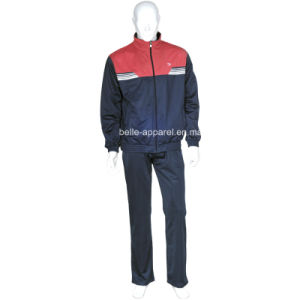 Men Tricot Brushed Polyester Sport Tracksuits pictures & photos