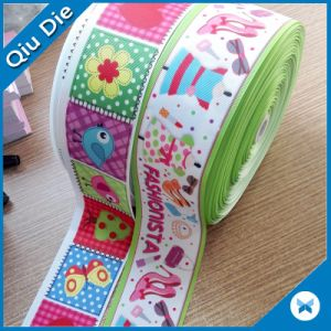 100%Polyester Webbing Multicolor Color Printed Ribbon for Gift Decoration pictures & photos