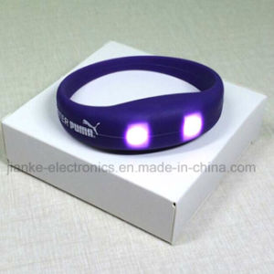 Metion Sensor LED Flashing Bracelet with Logo Printed (4010) pictures & photos