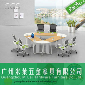 Original Quality Steel Foot Triangular Meeting Table Office Furniture pictures & photos