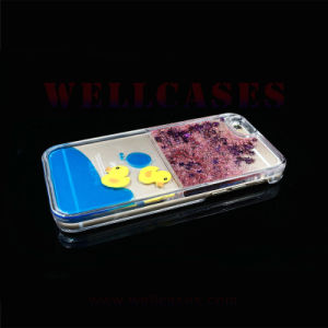 Liquid Glitter Powder Quicksand Yellow Duck Phone Cover/Case for iPhone 5/6/6plus pictures & photos