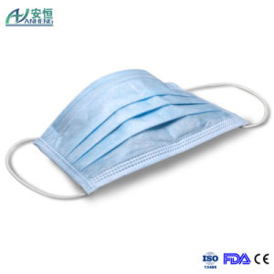 Medical 3 Ply Blue Disposable Earloop Surgical Face Mask pictures & photos