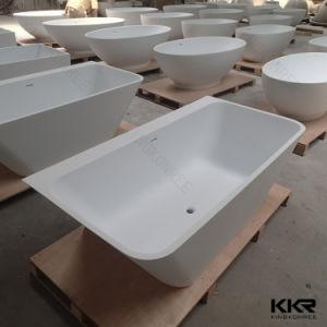 Modern Shape 1800mm Acrylic Stone Freestanding Bathtub pictures & photos