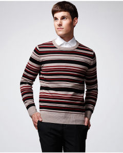 ODM Striped Wool Acrylic Pullover Man Sweater pictures & photos
