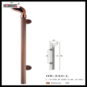 Copper surface Glass/Wooden Door Handle ( HR-340-L) pictures & photos