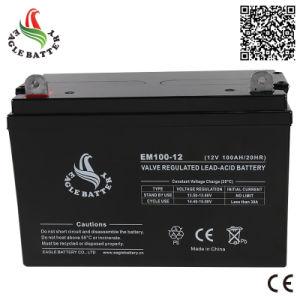 12A 100ah Rechargeable VRLA Lead-Acid Battery for Solar