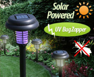 Solar Powered LED Photocatalyst Mosquito Killer, Bug Zapper Lamp Fly Trap Pest Killer Device pictures & photos