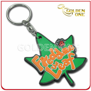 Promotional Maple Leaf Shape Soft PVC Key Chain pictures & photos