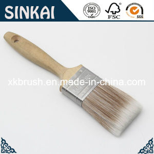 Hard Tapered Fiber Brush with Wood Handle pictures & photos