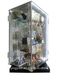 Wholesale Rotating Jewelry Acrylic Display Cases pictures & photos