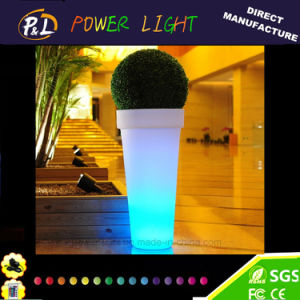 Waterproof LED Illuminated Plastic Garden Flower Pot pictures & photos