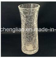 Ice Crackle Glass Vase (V-029) pictures & photos