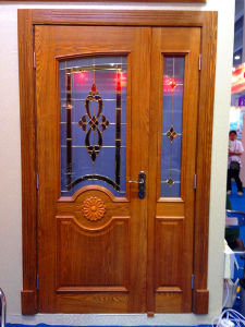 New Ash Decoration Glass Wooden Door pictures & photos