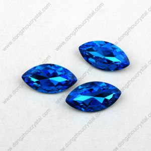Wholesale 17*32 Marquise Glass Gems Pointed Large Crystals Stone pictures & photos
