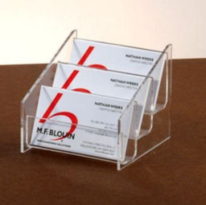 Transparent Acrylic Countertop Business Card Holder Promotional pictures & photos