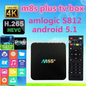 2016 Android 5.1 TV Box M8s Plus 2.4G5g WiFi 4k 1000m Android TV Box M8s Plus Quad Core 2GB RAM pictures & photos