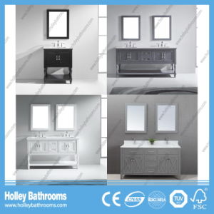 Deluxe Hollow Bathroom Storage with 2 Mirrors and 2 Basins (BV184W) pictures & photos