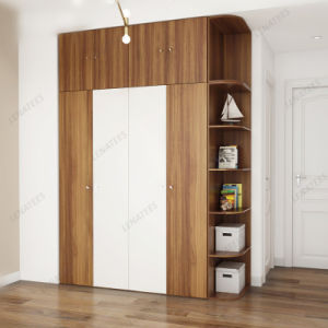 Yg03A Melamine Furniture 4 Doors Wardrobe Closet pictures & photos