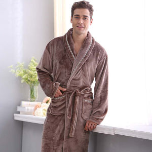 Wholesale Hotel Bathrobe with Velour Material (DPH7430) pictures & photos