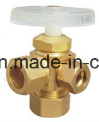 Brass Forged 3-Way Male Angle Valve with Plastic Handle pictures & photos