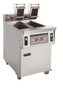 Double Tanks Electric Chips Fryer Open Fryer Fried Chicken Fryer pictures & photos