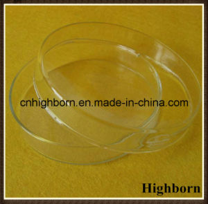 Clear Round Base Silica Quartz Glass Petri Dish with Lid pictures & photos