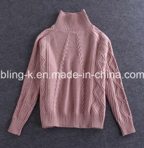 Popular Wild Turtleneck Twisting Sweater for Women/Ladies