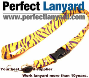 Zebra Printing Lanyard with Metal Hook pictures & photos