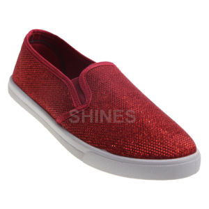 Glitter Mesh Upper Injection Shoes for Women