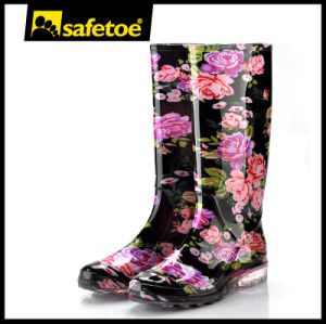 Colorful Stylish Lady Rain Boots Beautiful Women Rain Boots W-6040 pictures & photos