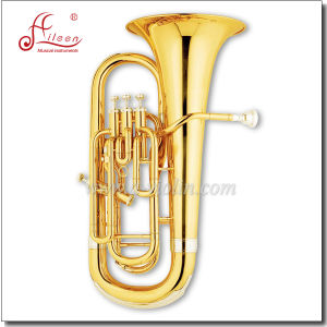 Gold Lacquer 4 Valves Bb Key Euphonium pictures & photos