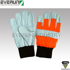 CE En381-7 Cut Resistant Gloves Chainsaw Protective Gloves pictures & photos