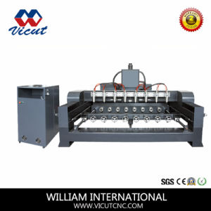 High Efficiency CNC Engraving Machine with Rotary Axis pictures & photos