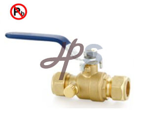 Lead Free Brass Compression Ball Valve with Drain pictures & photos