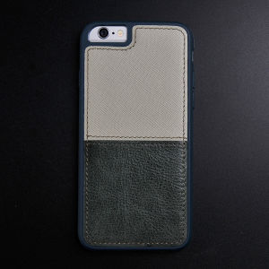 Khaki with Army Green Genuine Leather Case for iPhone 6/6s
