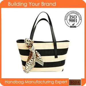 2015 China Newest Wholesale Exported Trendy Canvas Tote Bag pictures & photos