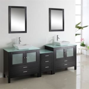 24 Inch Single Sink Floor Standing Solid Wood Bathroom Cabinet pictures & photos