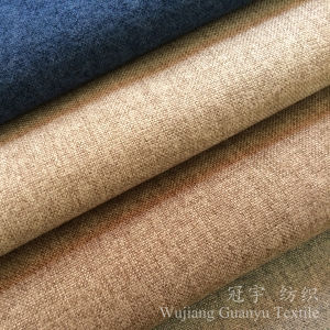 Upholstery Linen Like Sofa Fabric with Backing pictures & photos