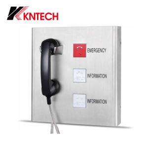 Stainless Steel Emergency Phone Knzd-27A Kntech with Three Buttons pictures & photos