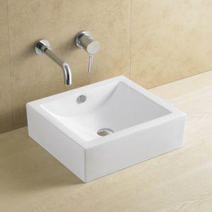 Popular Rectangular Bathroom Basin 8088 pictures & photos