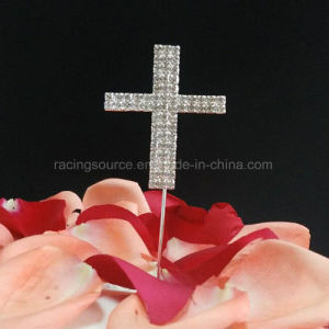 Rhinestone Cake Topper Deocration Cross Wedding Cake Topper pictures & photos