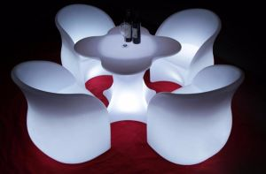 Modern Furniture Unique Design Flower Shaped Colorful LED Chair pictures & photos