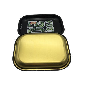 Black Color Tray Tin Smoke Rolling Tin Tray for Wholesale pictures & photos