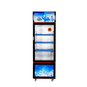 Sligding Door Upright Freezer with Two Temperatures and Lockers pictures & photos