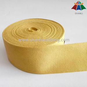 Hot Sell Yellow Pure Cotton Webbing Tape pictures & photos
