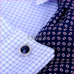 VAGULA Super Quality Cuffs Diamond Cuff Links Gemelos Opal Cufflinks 389 pictures & photos